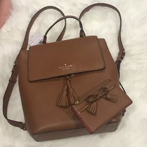 NWT Kate Spade backpack w/ wallet